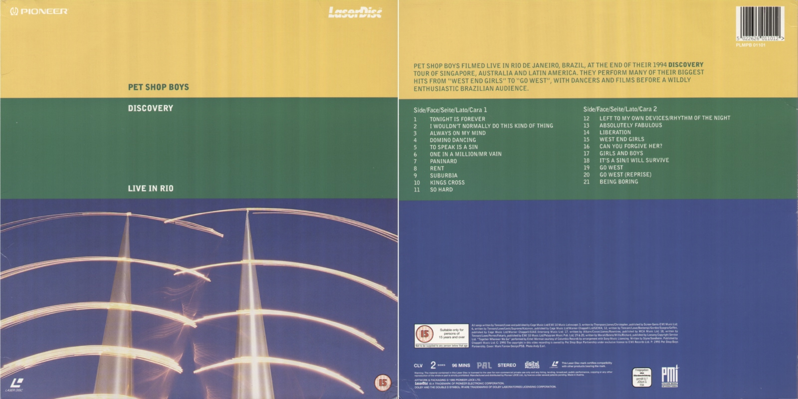 Discovery - 12''LD: 1996 AT (Pioneer; PLMPB 01101) [