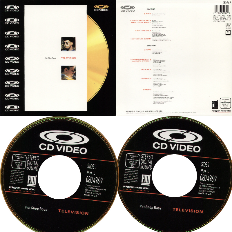 Television - 8''LD: 1989 UK (Picture Music Int'l;